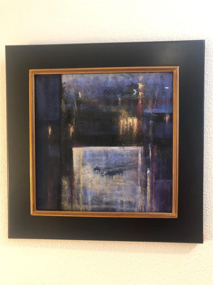 """Dawn Rowers Under the Green Island Bridge- framed"" original fine art by Karen O'Brien"