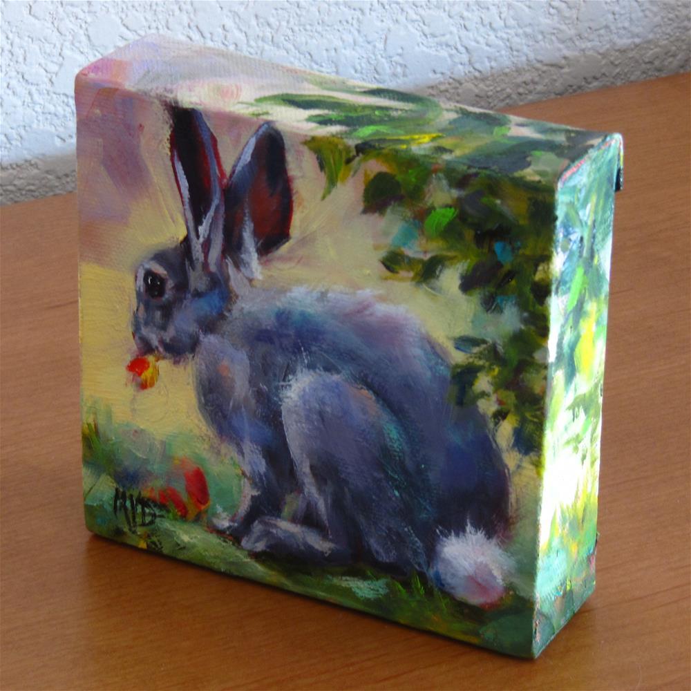 """Cottontail"" original fine art by Mary Van Deman"