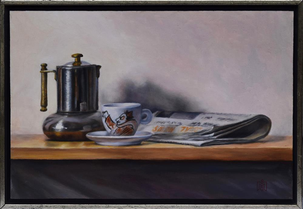 """Breakfast with Fellini"" original fine art by Melissa  Imossi"