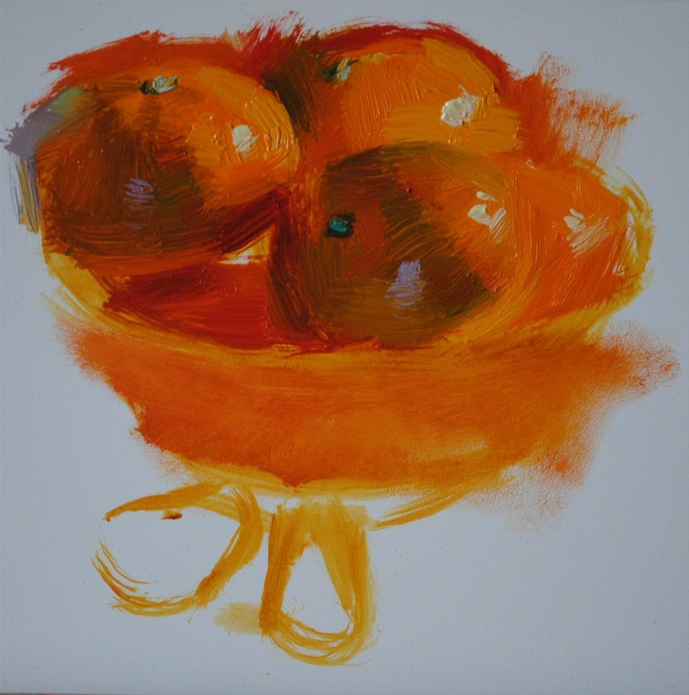 """First Batch of Mandarins"" original fine art by Elena Katsyura"