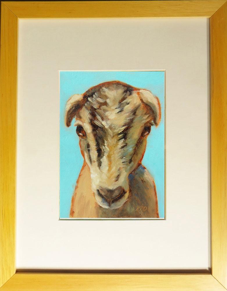 """Goat"" original fine art by Rhett Regina Owings"
