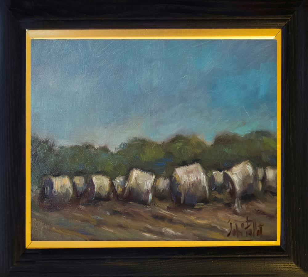 """Hay Bales"" original fine art by Andre Pallat"