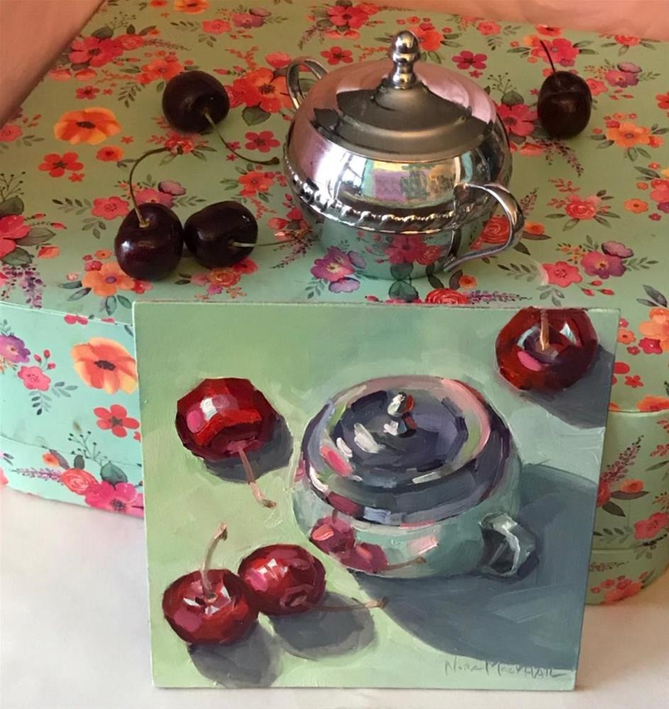 """cherry look-see"" original fine art by Nora MacPhail"
