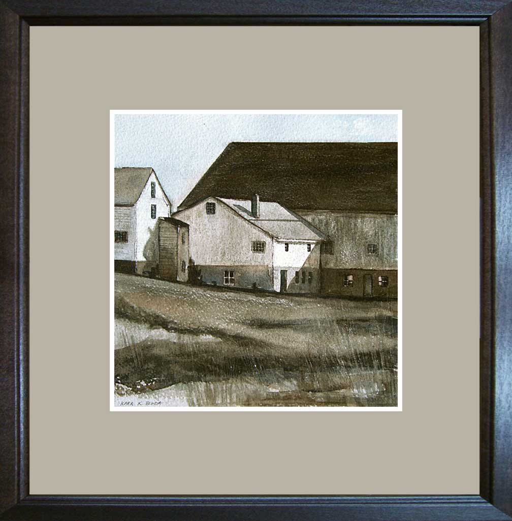 """West Road Barns"" original fine art by Kara K. Bigda"