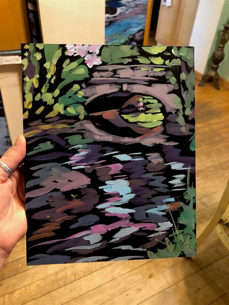 """Minnehaha Creek in Pink"" original fine art by Kat Corrigan"