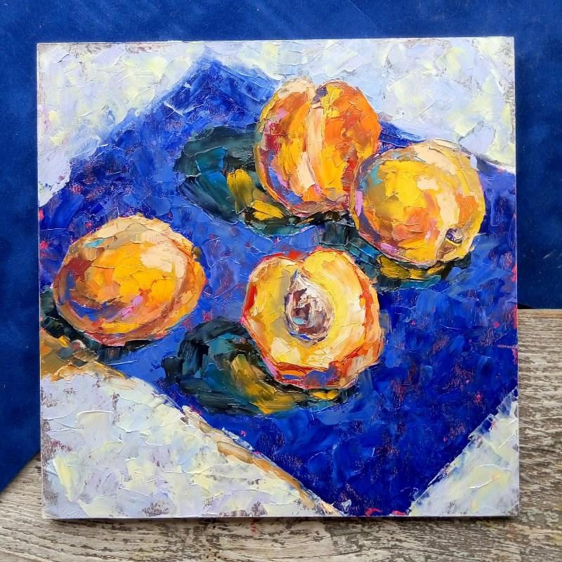 """""""Peaches"""" original fine art by Valerie Lazareva"""