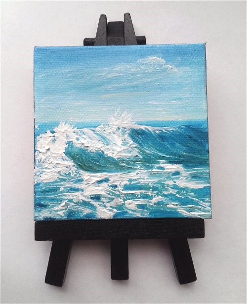 """Wave Seascape"" original fine art by Camille Morgan"