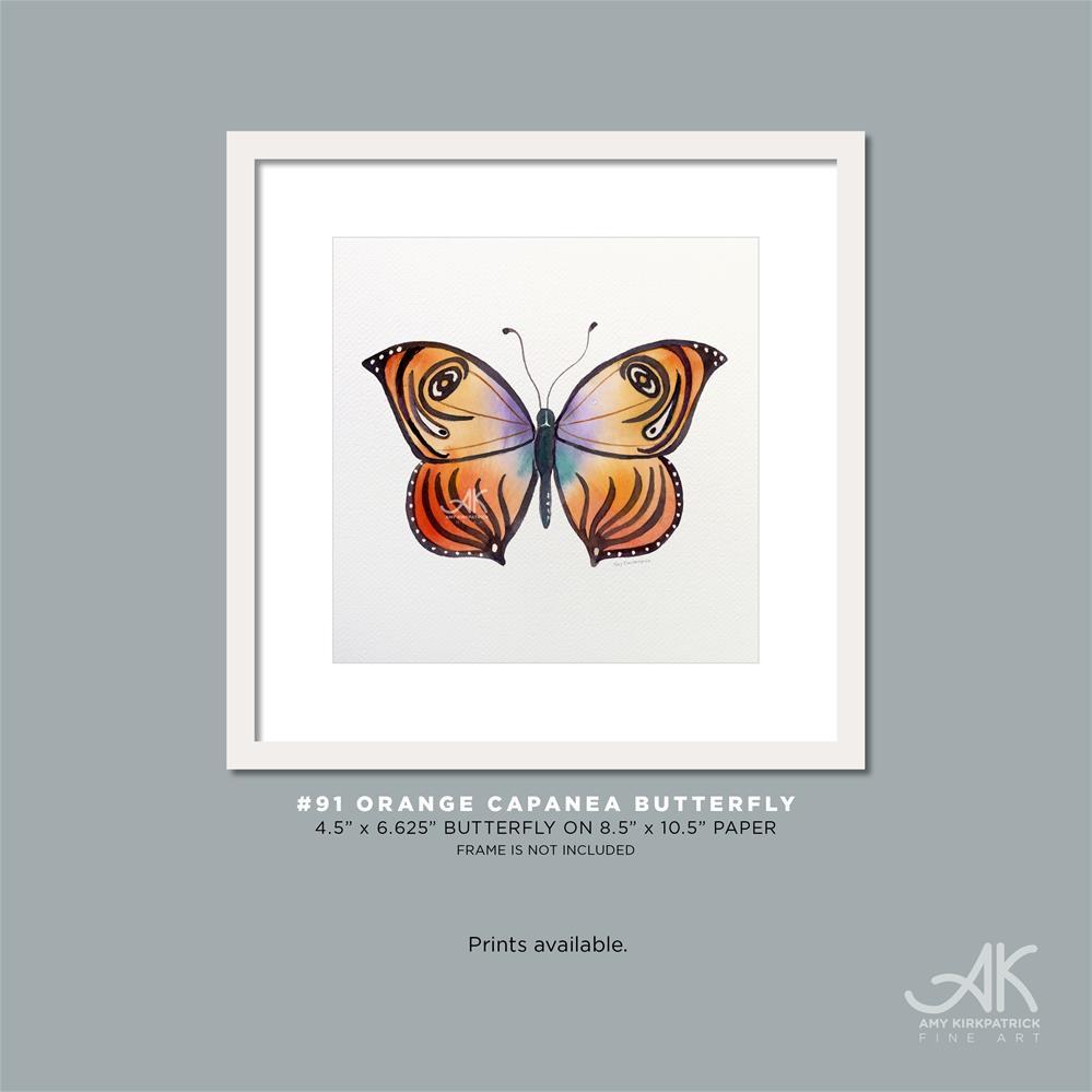 """""""#91 Orange Capanea Butterfly #0401"""" original fine art by Amy Kirkpatrick"""
