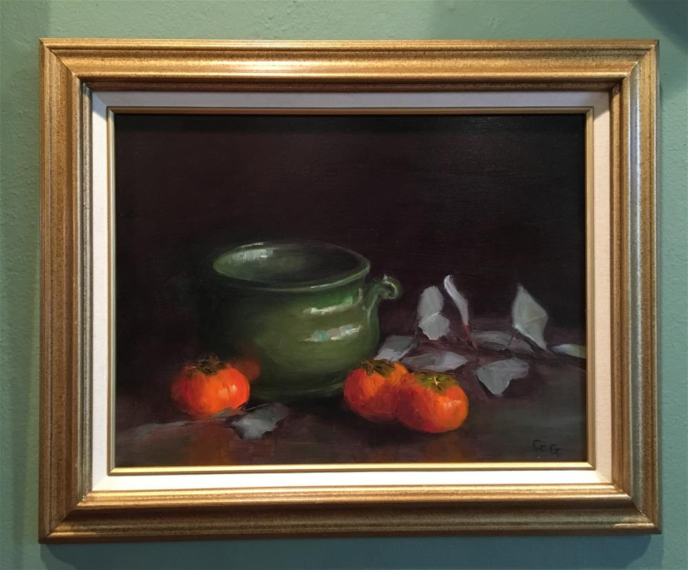 """Persimmons"" original fine art by Gail G. Slockett"
