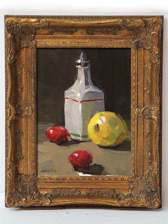 """Lemon with Cherry Tomatoes"" original fine art by David Lloyd"