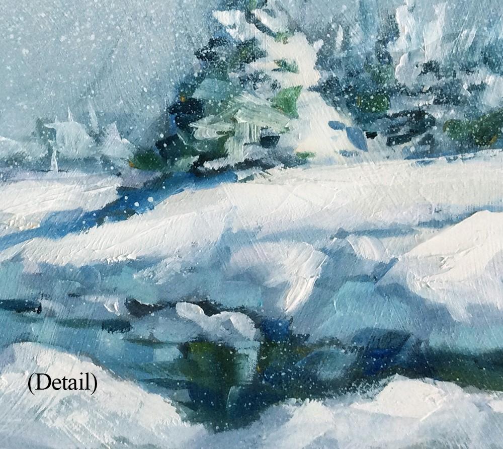 """""""WINTER WONDERLAND"""" original fine art by Tom Brown"""