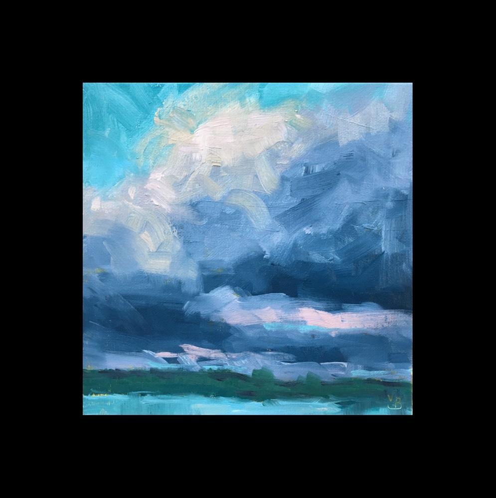 """Abstract Clouds"" original fine art by Victoria  Biedron"