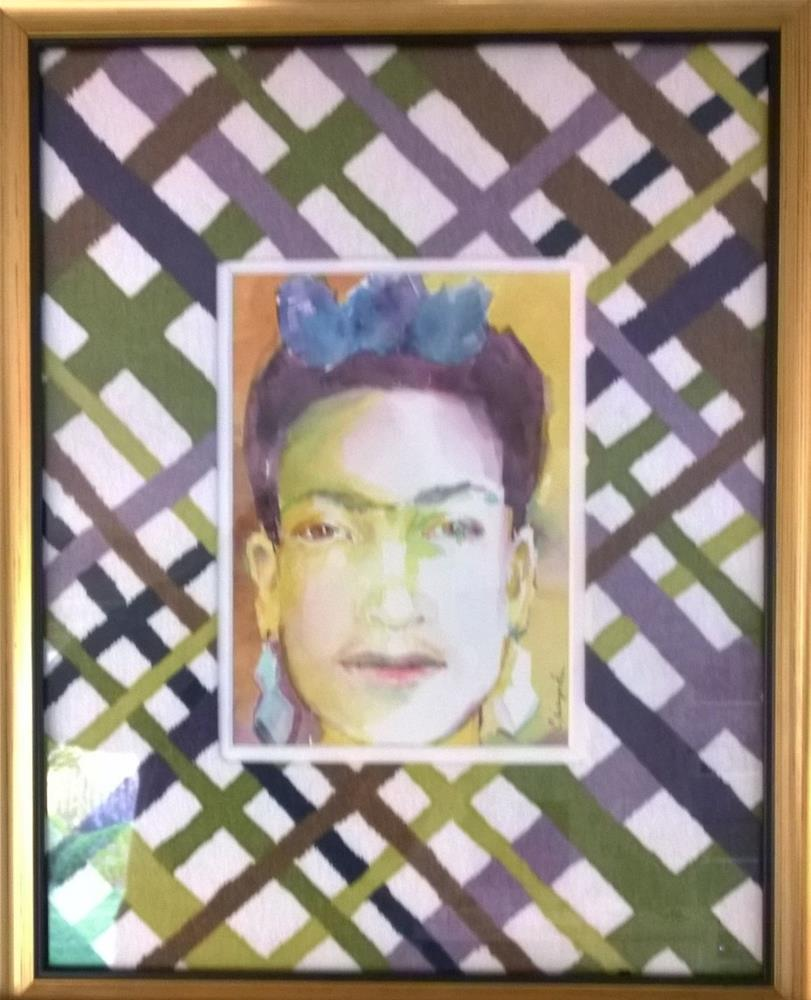 """""""Frida as I see her"""" original fine art by Crisynda Buss"""