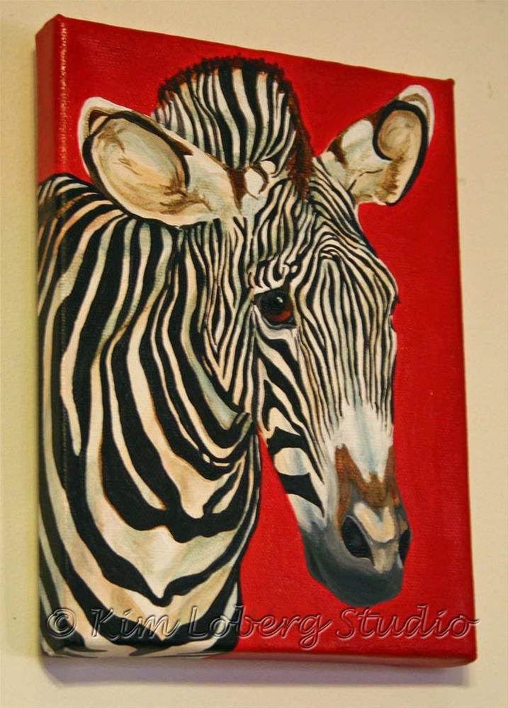 """The Zebra Riddle"" original fine art by Kim Loberg"