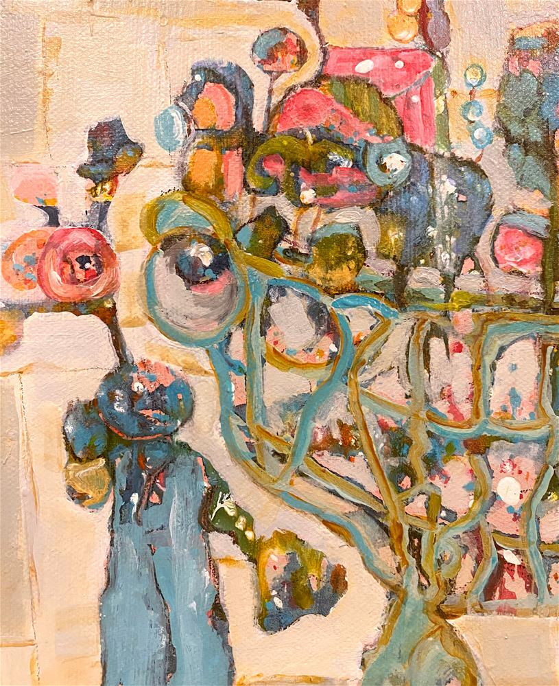 """FLOWER PARTY "" original fine art by Judie Mulkey"