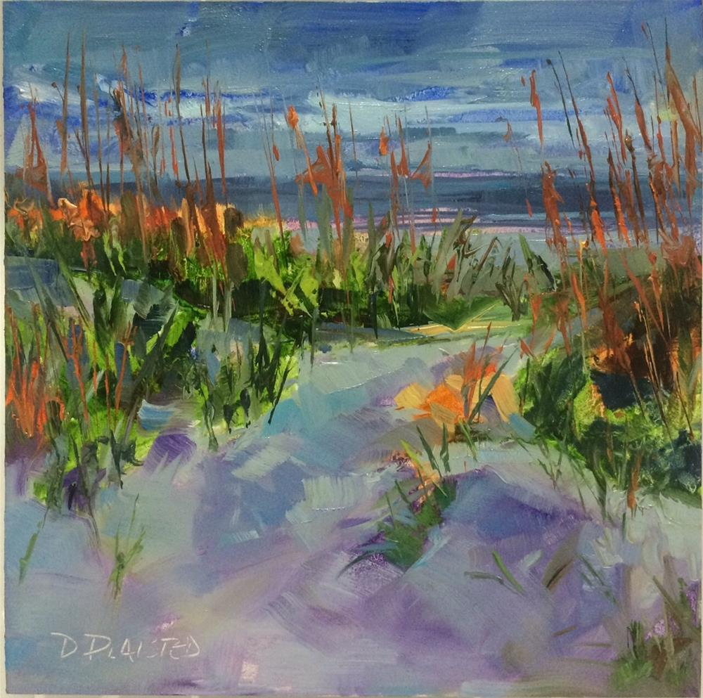 """""""Evening Sea Oats"""" original fine art by Diane Plaisted"""