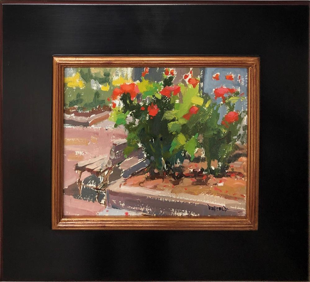 """""""Portland Art Museum Rose Garden"""" original fine art by Cathleen Rehfeld"""