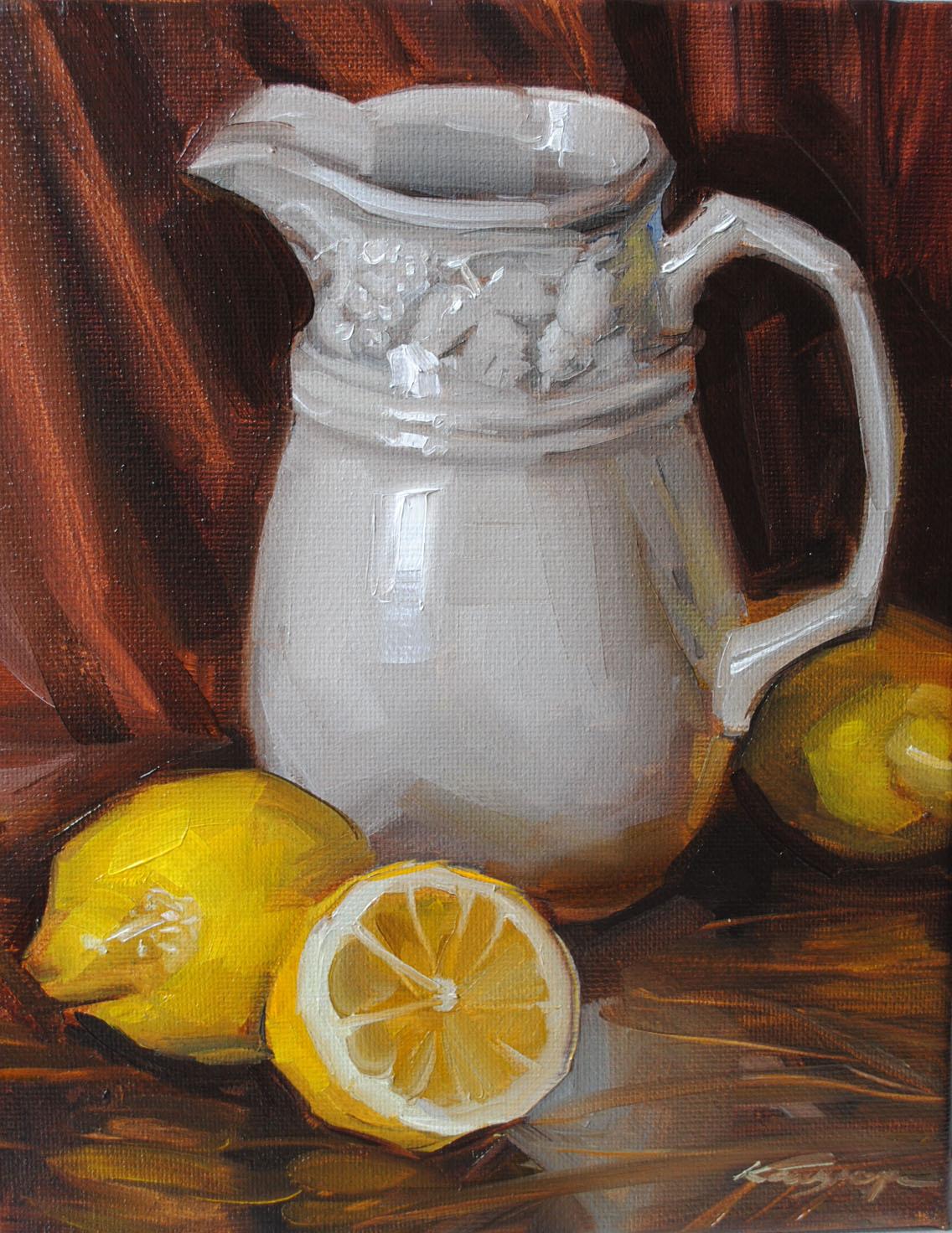 """Lemon Rhapsody"" original fine art by Elena Katsyura"