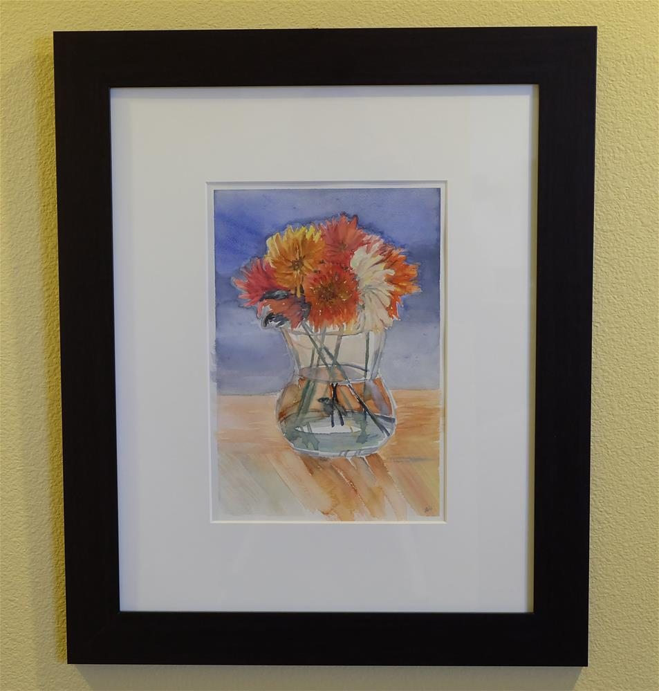 """""""Angry Dahlias"""" original fine art by Laura Denning"""
