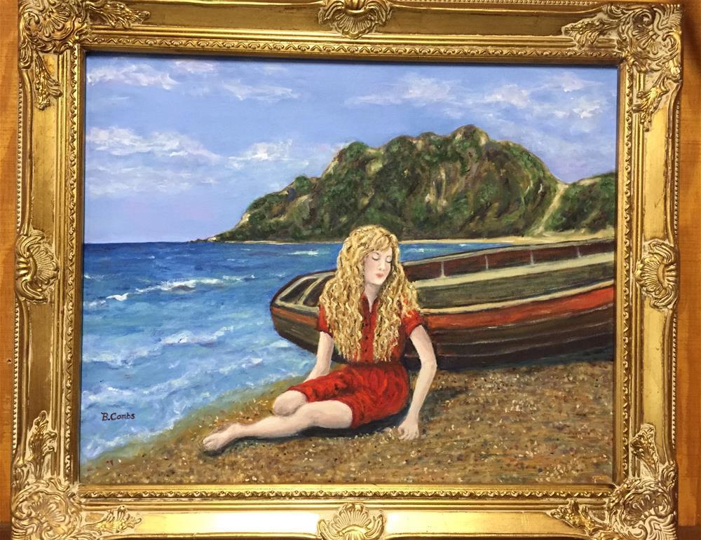 """Beach Reverie"" original fine art by Bebe Combs"