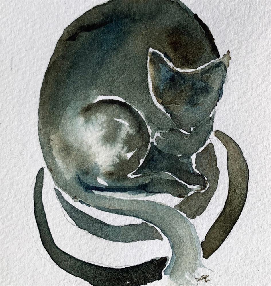 """Cat 2"" original fine art by Jean Krueger"