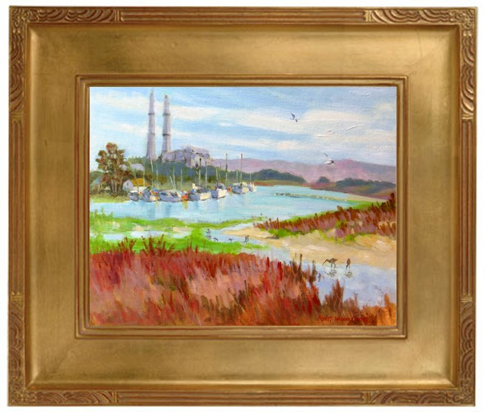 """Moss Landing Bird Haven"" original fine art by Rhett Regina Owings"