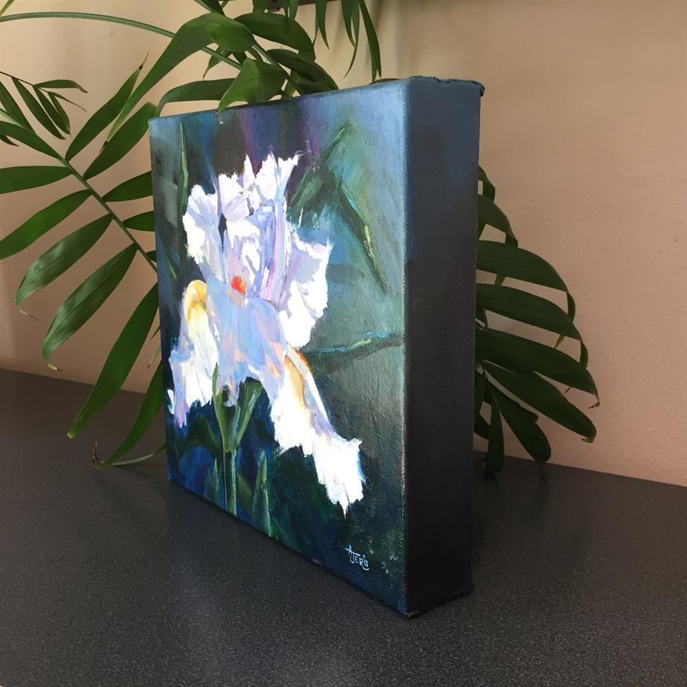 """White Iris"" original fine art by Andrea Jeris"