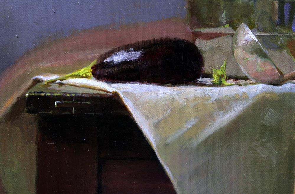 """Eggplant "" original fine art by Ron Ferkol"