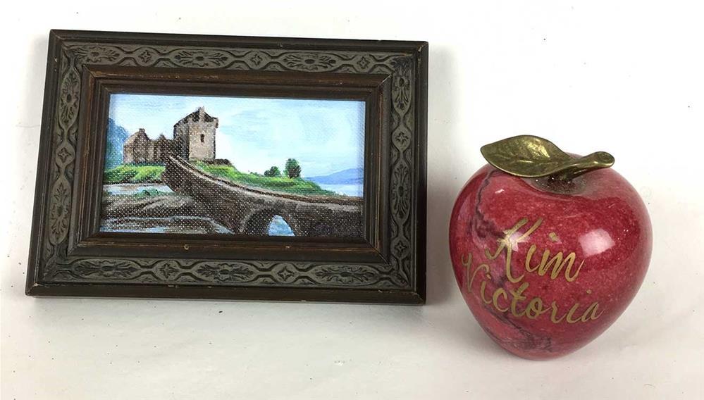"""Eilean Donan Castle #2, Scotland, miniature"" original fine art by Kim Victoria"