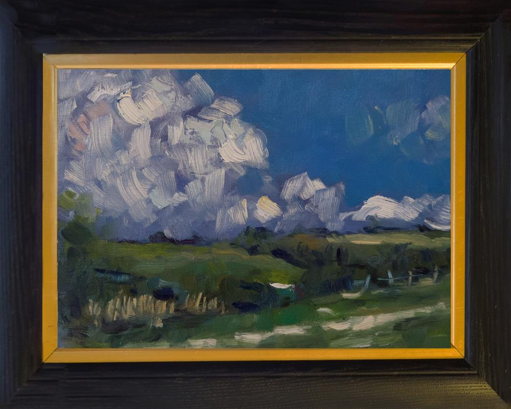 """""""Clouds over the Downs"""" original fine art by Andre Pallat"""