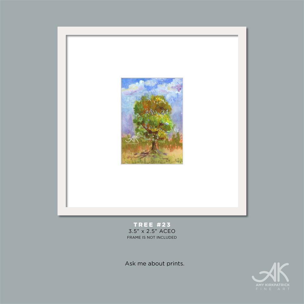 """TREE #23 (ACEO) #0672"" original fine art by Amy Kirkpatrick"