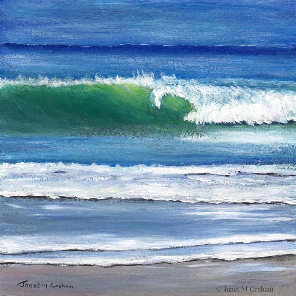 """Summer Waves"" original fine art by Janet Graham"