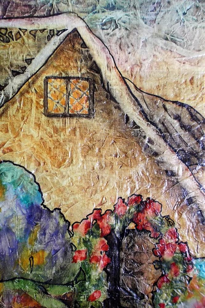 """Zen Inspired Cottage Flower Garden Watercolor on Tissue"" original fine art by lynne french"