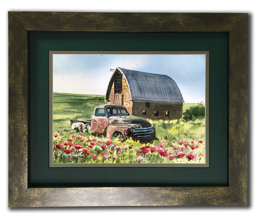 """""""Chevy in the Poppies"""" original fine art by Andy Sewell"""