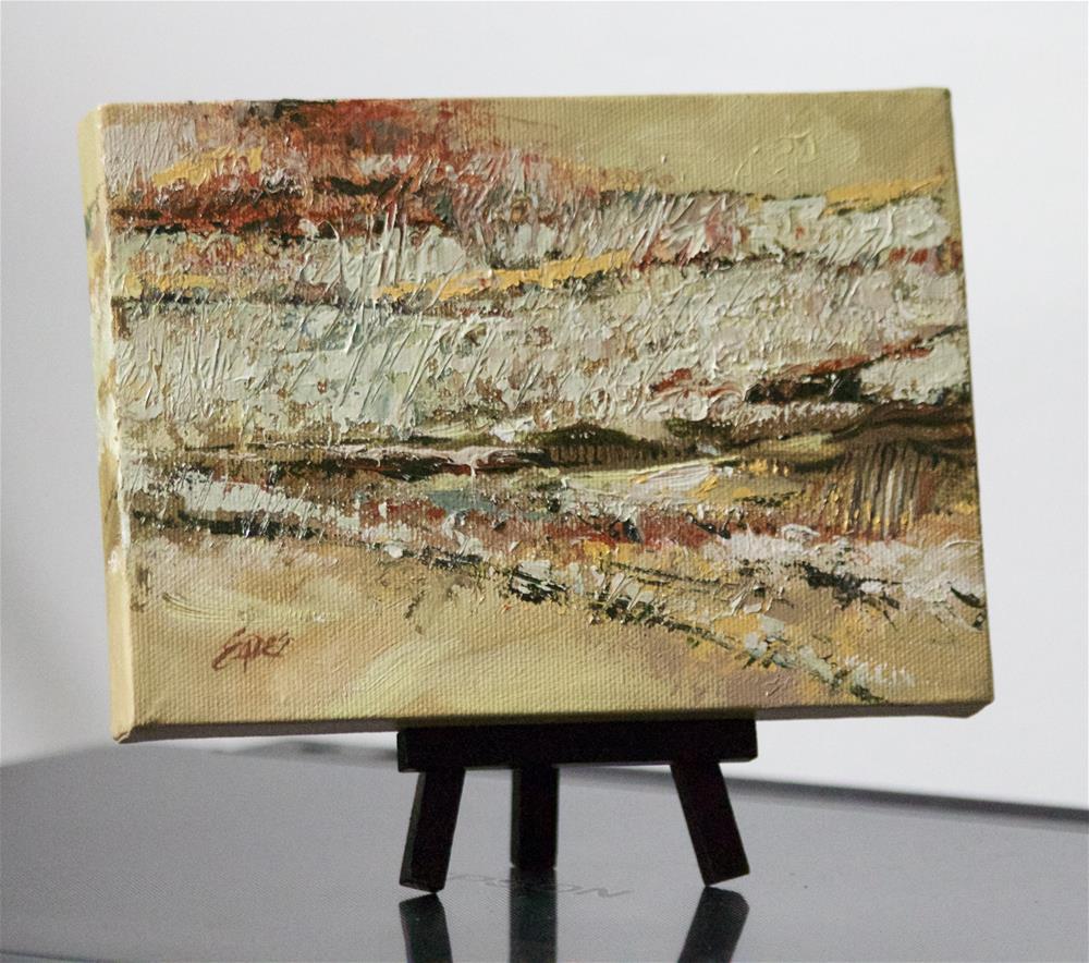 """Fall Fields Abstract"" original fine art by Linda Eades Blackburn"