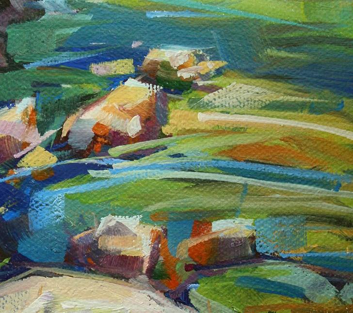"""Light on Wahclella Creek"" original fine art by Cathleen Rehfeld"