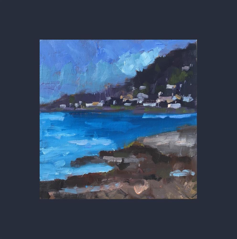 """Deep Blue Water"" original fine art by Victoria  Biedron"
