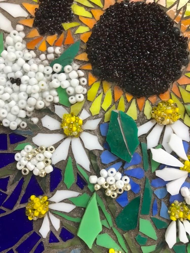 """Sunflower Bouquet"" original fine art by Joetta Currie"