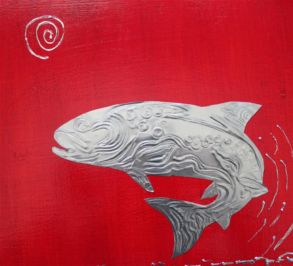 """Pacific North West Salmon"" original fine art by Christiane Kingsley"