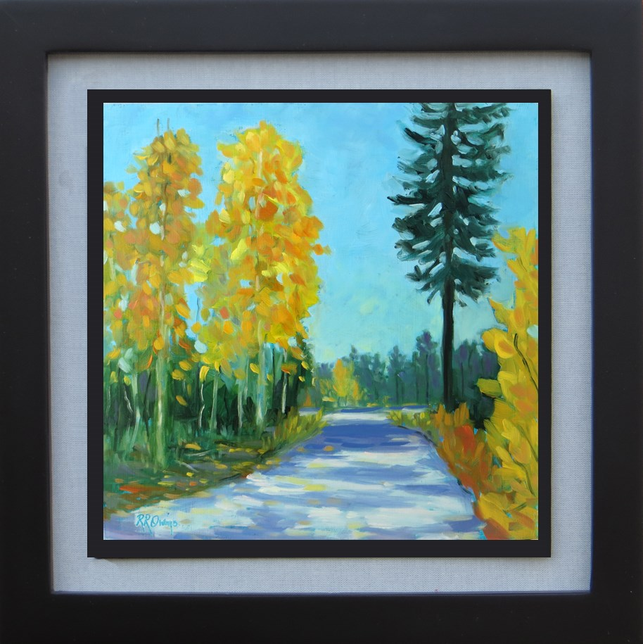 """Fall Road"" original fine art by Rhett Regina Owings"