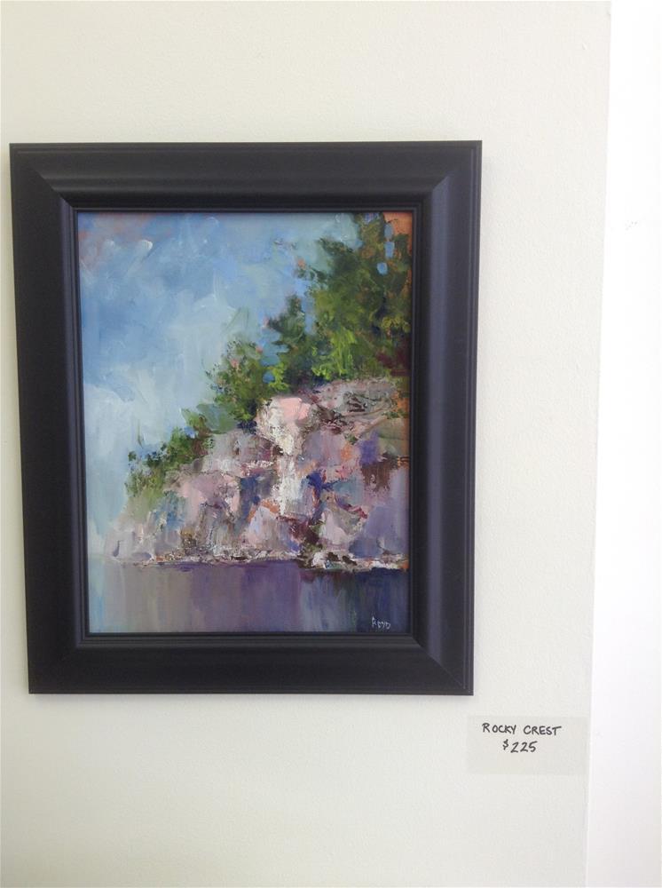 """""""Rocky Crest"""" original fine art by Cathy Boyd"""
