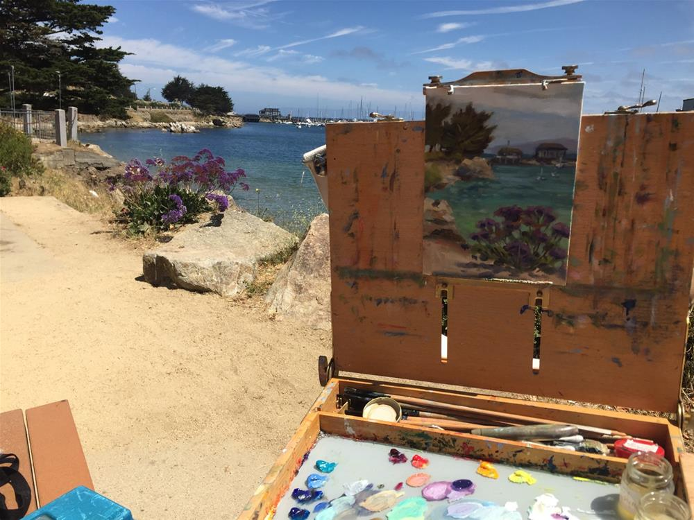 """Purple Status in Monterey"" original fine art by Rhett Regina Owings"