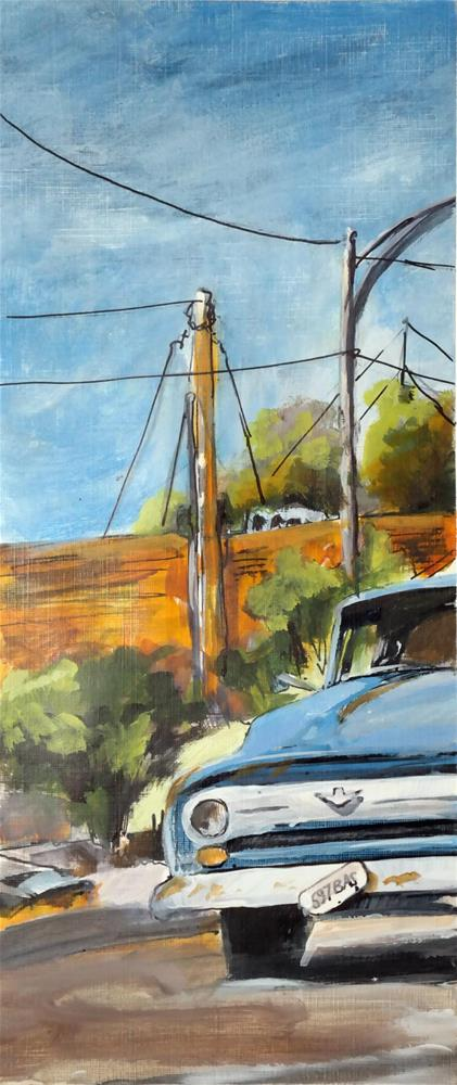 """3101 Lone Car 01-03"" original fine art by Dietmar Stiller"