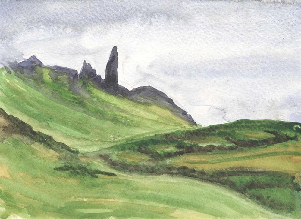 """Old Man of Storr, Isle of Skye, Scotland"" original fine art by Kim Victoria"