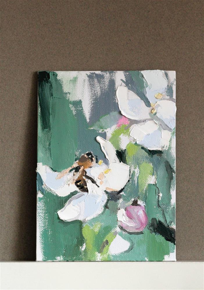 """""""Bee"""" original fine art by Yuliia Meniailova"""