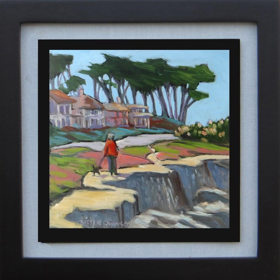 """""""Walking Along the Coast"""" original fine art by Rhett Regina Owings"""