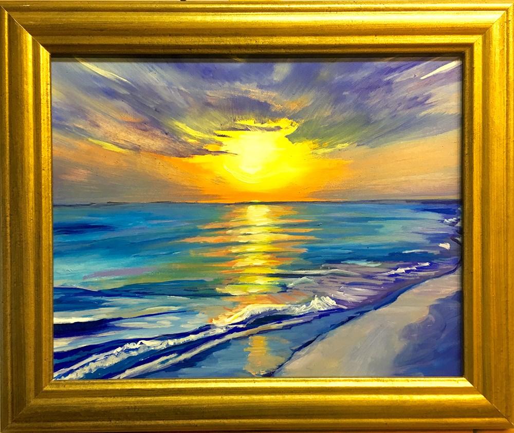 """Siesta Key Sunset"" original fine art by Katherine Hambley"