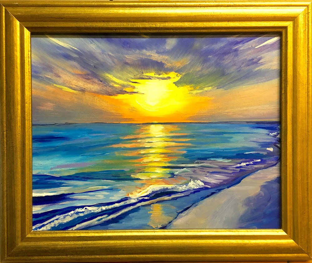 """Siesta Key Sunset"" original fine art by Katherine Hambley"