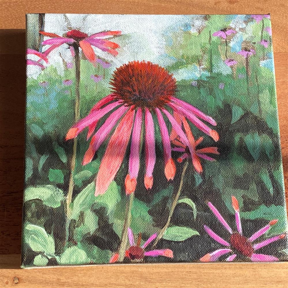 """Pink & Orange"" original fine art by Cary Okoro"