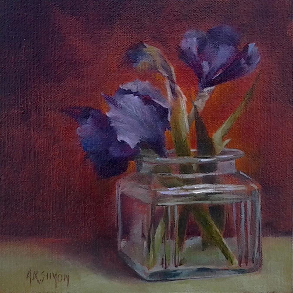 """Clearly Iris"" original fine art by A.K. Simon"